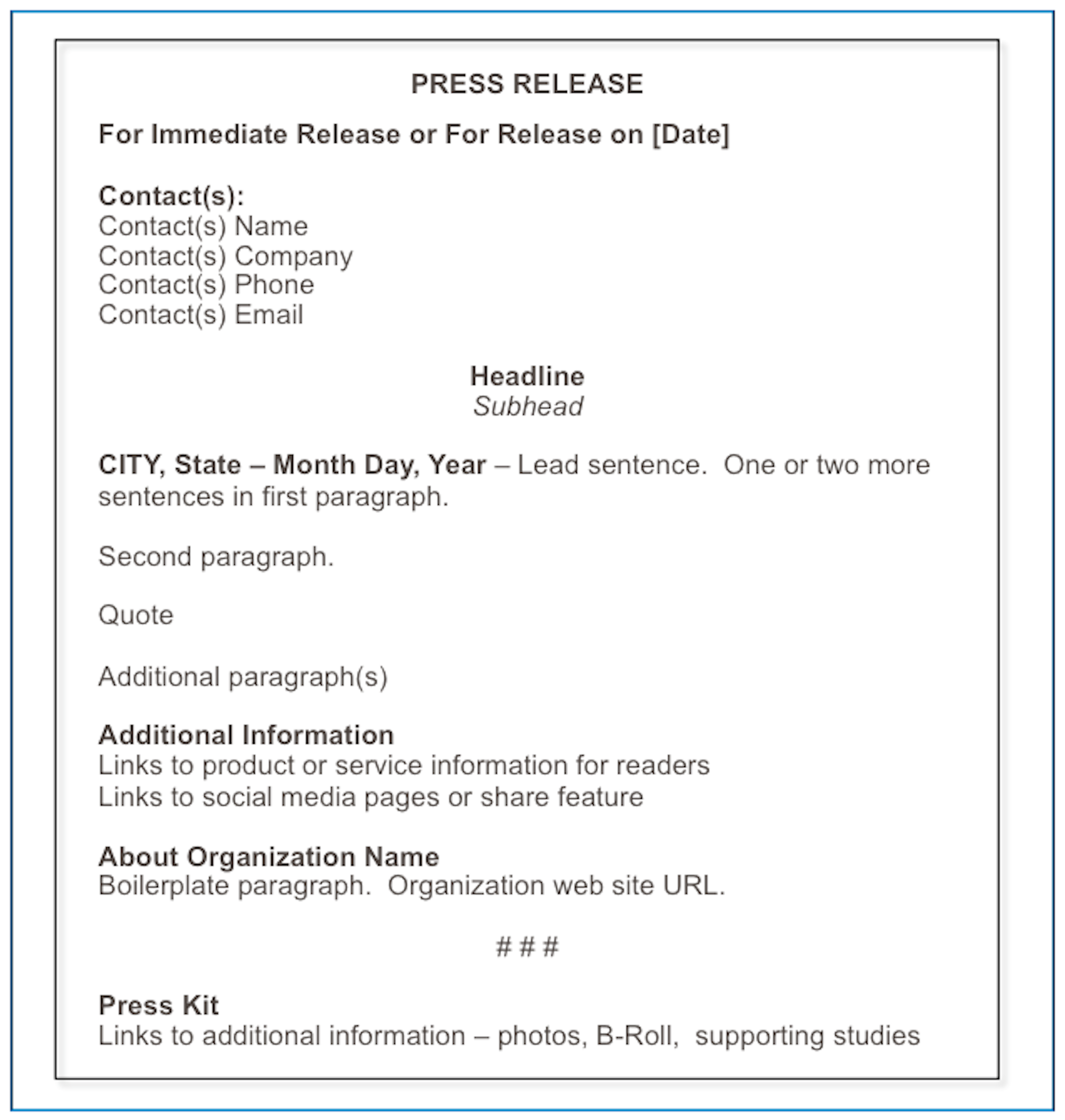 October 2014 matthews on marketing for Ceo press release template